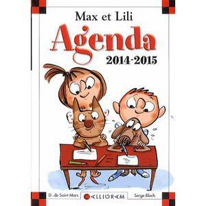 Livre 6-9 ANS Agenda Max et Lili 2014-2015