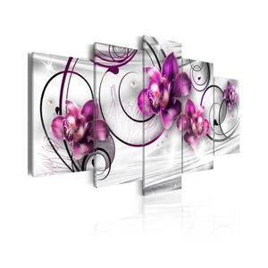 TABLEAU - TOILE Tableau Orchids And Pearls - Dimension - 200x100.
