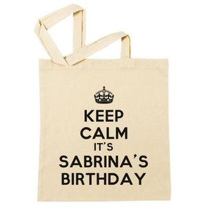 2505926fac SAC SHOPPING Sac à Provisions - Keep Calm Its Sabrinas Birthday