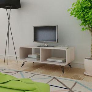 MEUBLE TV P64  Meuble TV 90 x 39 x 38,5 cm Bois Gris