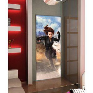 PAPIER PEINT Sticker Géant Avengers Black Widowa 91x211 cm pour