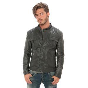 a8b75159e4067 Veste blazer cuir veritable homme - Achat   Vente pas cher