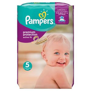 COUCHE Pampers - Active Fit Couches Taille 5 ( 11-23 kg /