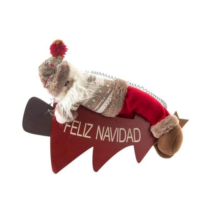 Personnage de Noël : Père Noël en tissu 37 cm