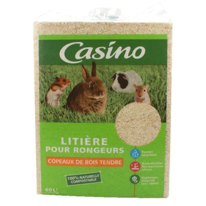CASINO Litière copeaux - Pour rongeur - (x1)