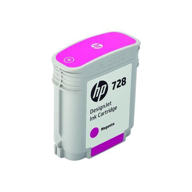 HP Cartouche d'encre 728 - Magenta - 40 ml