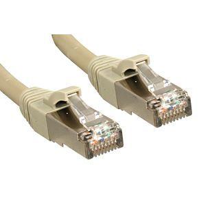 LINDY Câble réseau patch cat.6 S/FTP PIMF Premium - cuivre - LSOH - 500MHz - 0,5 m - gris
