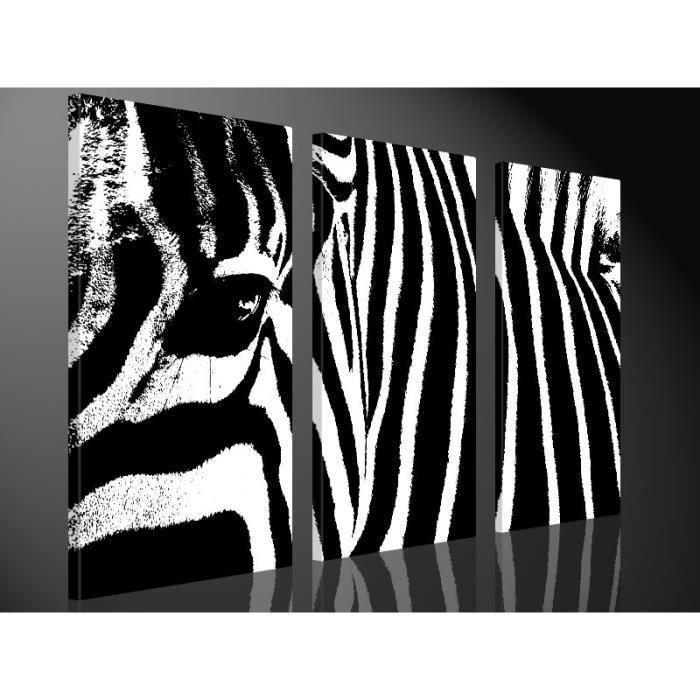 Tableau Moderne Imprime 130x80 Zebre Achat Vente Tableau