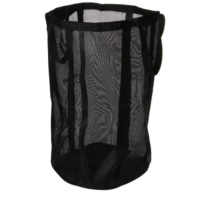 panier linge rond pliable noir achat vente panier. Black Bedroom Furniture Sets. Home Design Ideas