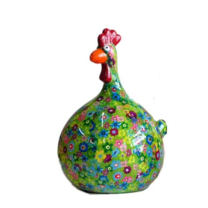 Tirelire Decorative Poule Cocotte Fleurie F Achat Vente Objet