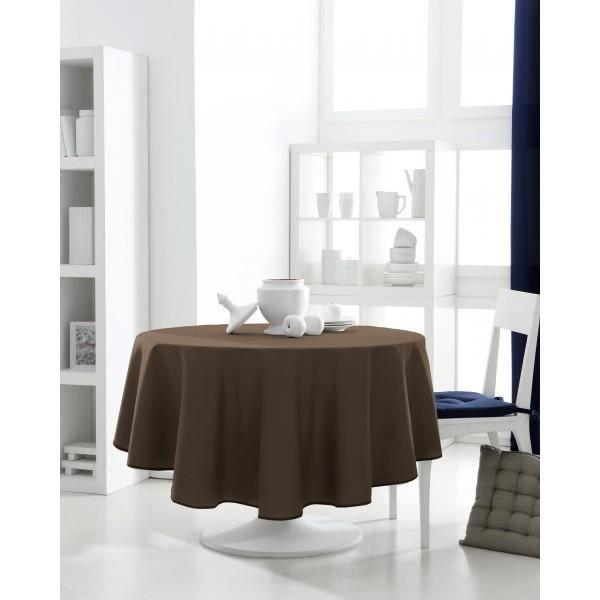 nappe ronde marron achat vente pas cher. Black Bedroom Furniture Sets. Home Design Ideas