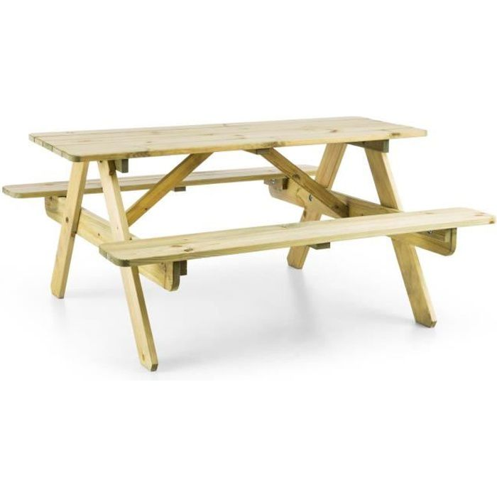 Blumfeldt Table de pique-nique avec banc meuble jardin pour enfants ...