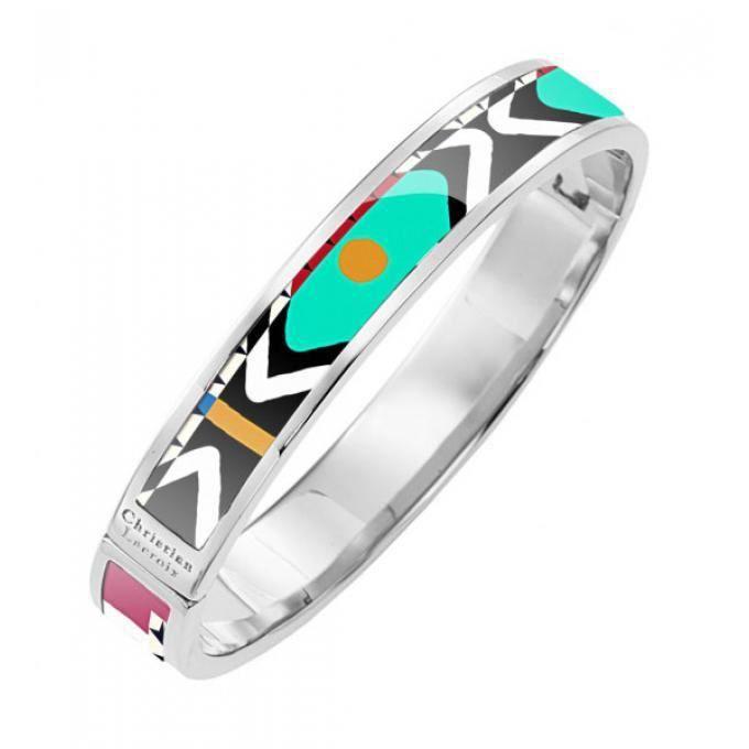 bracelet christian lacroix bijoux x16294m - bracelet acier argent bleu femme