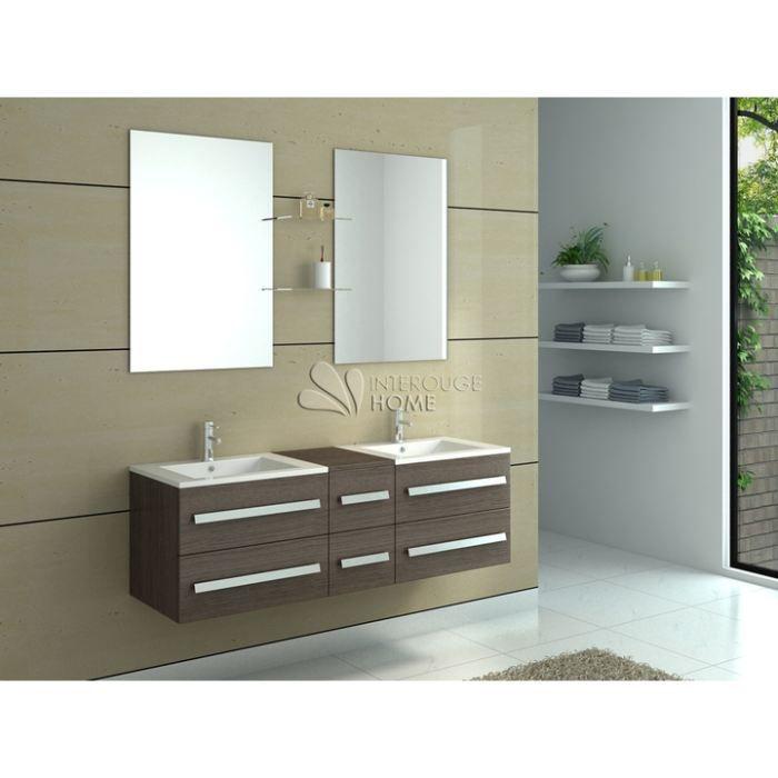 Meuble de salle de bain avec double vasques caf achat - Vendeur de salle de bain ...