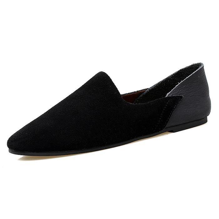 89031-Noir-44 ChaussuresHommes en cuir véritable 2017 Maillots de voituredécontractéesGlisser sur yFuPa