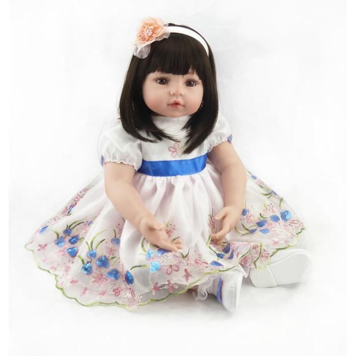 bebe reborn fille avec cheveux long achat vente jeux et jouets pas chers. Black Bedroom Furniture Sets. Home Design Ideas