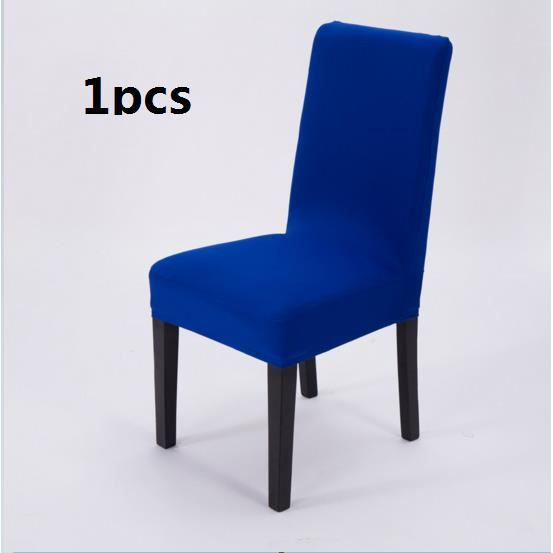 1 Pcs Bleu Marine Hotels Menage Restaurant Cuverture De Chaise