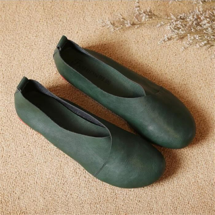 Derby Femmes Printemps Été Comfortable Mode Chaussures BBZH-XZ059Noir36 2Jl304
