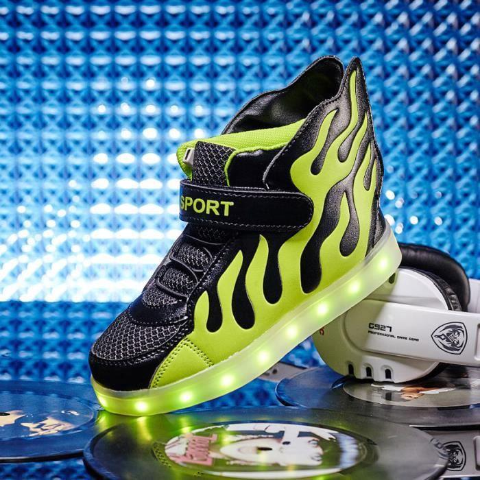 filles baskets enfants flash chaussures enfants 25 chaussures sport pour baskets garçons taille LED éclairage 37 chaussures 5x0wH4Rnq