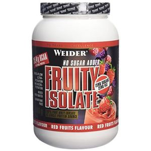 WEIDER Boîte de Fruity Isolate Fruits Rouges 908g