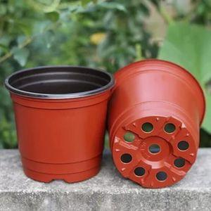 PLANTE POUSSÉE 10 Pcs En Plastique Fleur Pots Jardinières Double