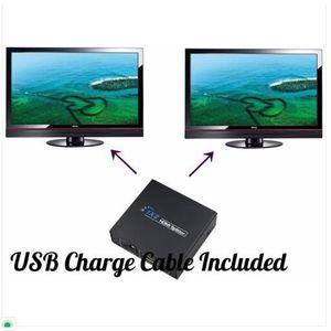ADAPTATEUR AUDIO-VIDÉO  Nouveau multiprise HDMI 1 Entrée 2 Sortie Amplific