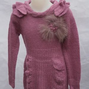 f0f987eece7 ROBE ROBE EN LAINE ROSE 14 ANS A MANCHES LONGUES FILLE