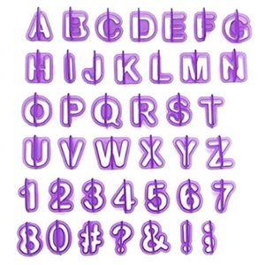 EMPORTE-PIÈCE  OKPOW Lot de 40PCS d'Emporte-pièces d'Alphabet Chi