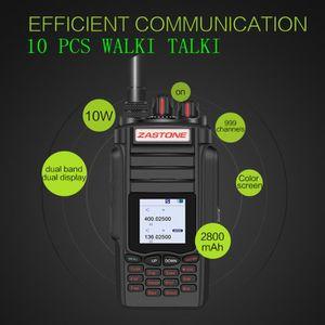 TALKIE-WALKIE JOUET 10 Pcs Zastone A19 10 W Couleur Écran UHF / VHF 13