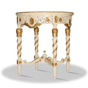 TABLE D'APPOINT Casa Padrino Baroque Side Table Diameter 80 x H. 8