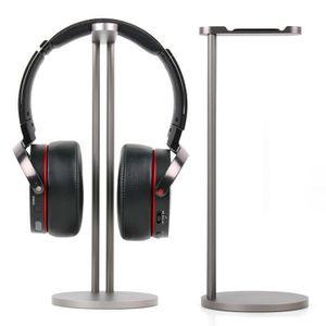 CASQUE - ÉCOUTEURS Support- Stand an aluminium gris  pour casques aud