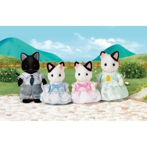 FIGURINE - PERSONNAGE SYLVANIAN FAMILIES Famille Chat Bicolore