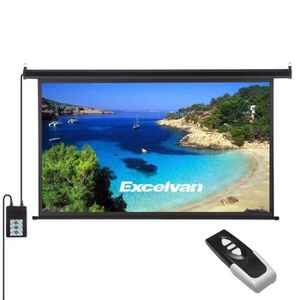 ECRAN DE PROJECTION Excelvan Écran de Projecteur Portable 100 pouces 1