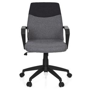 CHAISE DE BUREAU Chaise de bureau ROYAL tissu gris foncé/gris hjh O