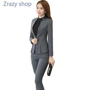 Veste tailleur grise femme pas cher