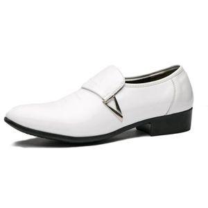 5a5c6cf78786f1 DERBY Derby Homme Chaussures de Ville Sans Lacets Vernie