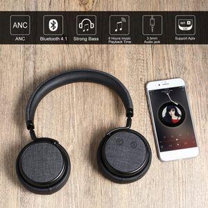 CASQUE - ÉCOUTEURS Casque d'écoute H5 Plus ANC Wireless 4.1 Suppressi