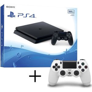 CONSOLE PS4 PS4 Slim 500Go + manette Dualshock 4 blanche offer