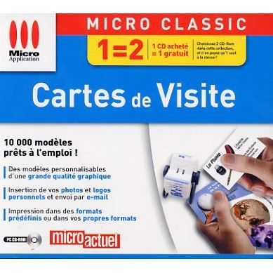 BUREAUTIQUE CARTES DE VISITE PC CD ROM