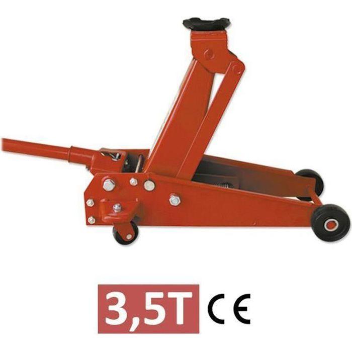 JBM Cric Hydraulique Élévateur avec Roue Capacité 3,5 Tonnes 685 mm