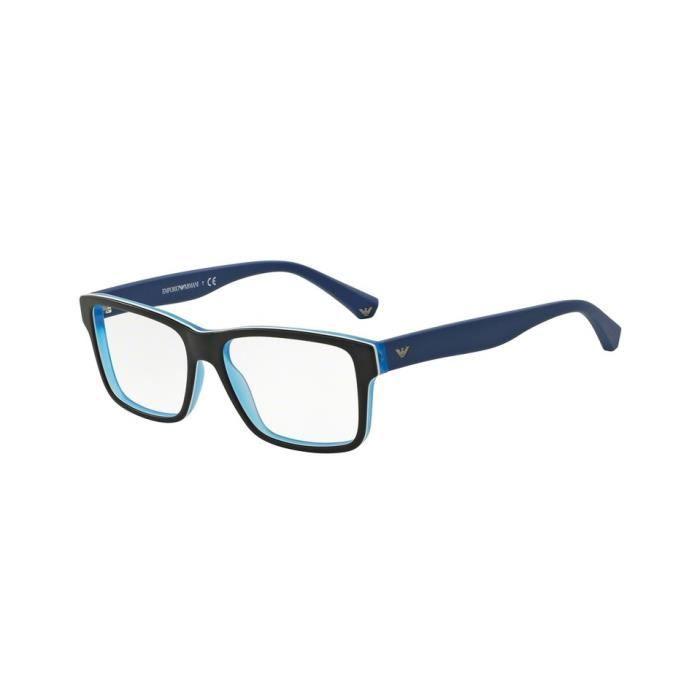 3d4a81c3eaf64 Lunettes de vue Emporio Armani Homme Modern(AR) 0EA3059 noir turquoise mat  51 x 28