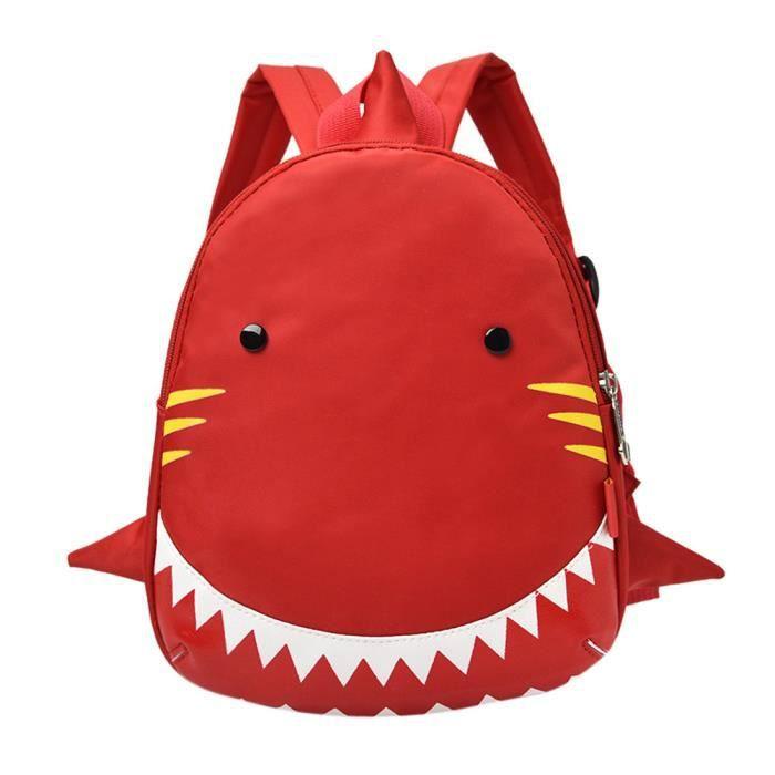 Motif À Fille Mignon Dos Requin Garçon Et Sac Rouge 8nwv0OmN