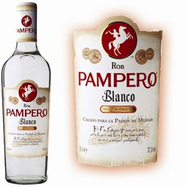 RHUM RHUM PAMPERO Blanco Blanc 37,5% 70cl (x1)