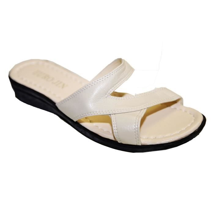 Sandales Claquettes Pieds Nus Femme Simili Cuir... znRv6e
