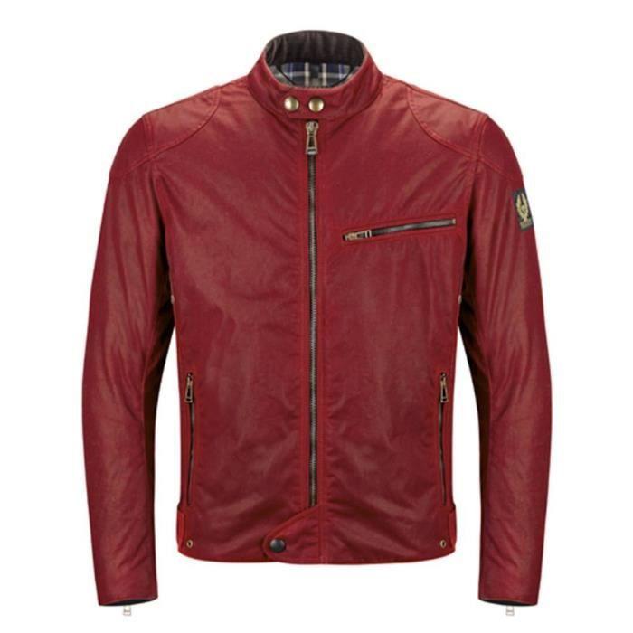 Rouge Vêtements Ariel Belstaff Blousons Achat Cuir Homme AaqBF6
