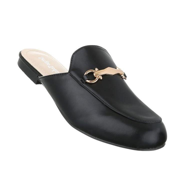 Femme sandales chaussures chaussures de plage chaussures d'été Pantoletten Slipper gris clair 41 QgOz9Q3