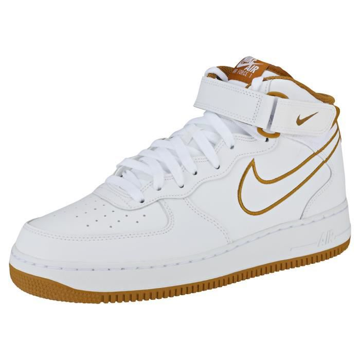 premium selection 0f378 a836c BASKET Nike Air Force 1 Mid 07 Homme Baskets Blanc Bronze
