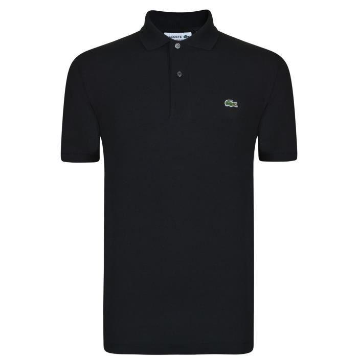 ebe70ab225 Lacoste Polo T-Shirt Classique Homme Noir Noir - Achat / Vente polo ...