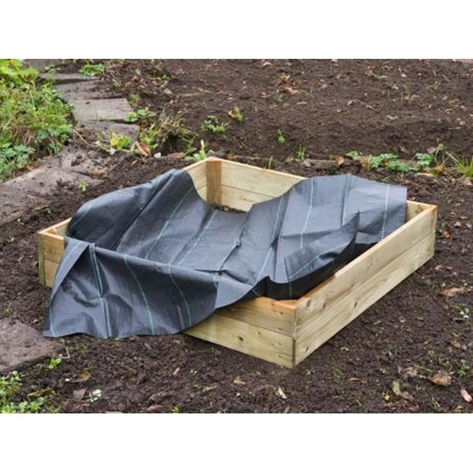 feutre g otextile noir 1 34x0 84m en polypropyl ne tiss. Black Bedroom Furniture Sets. Home Design Ideas