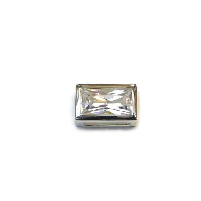 Pendentif argent 925 et oxyde de zirconium 11mmx7mm - RC005375